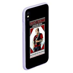 Чехол iPhone XS Max матовый Серега Есенин цвета 3D-светло-сиреневый — фото 2