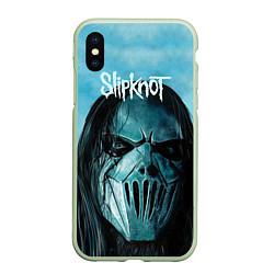 Чехол iPhone XS Max матовый Slipknot цвета 3D-салатовый — фото 1
