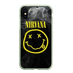 Чехол iPhone XS Max матовый Nirvana Smoke цвета 3D-салатовый — фото 1