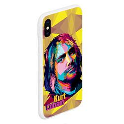Чехол iPhone XS Max матовый Kurt Cobain: Abstraction цвета 3D-белый — фото 2