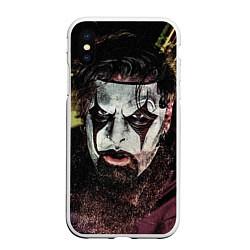 Чехол iPhone XS Max матовый Slipknot Face цвета 3D-белый — фото 1