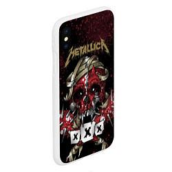 Чехол iPhone XS Max матовый Metallica: XXX цвета 3D-белый — фото 2