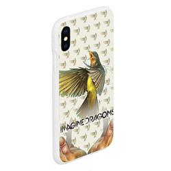 Чехол iPhone XS Max матовый Imagine Dragons: Fly цвета 3D-белый — фото 2