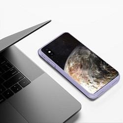 Чехол iPhone XS Max матовый Плутон цвета 3D-светло-сиреневый — фото 2