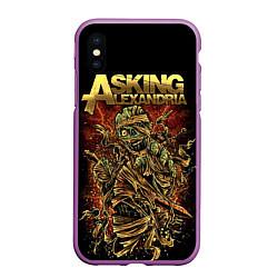 Чехол iPhone XS Max матовый Asking Alexandria цвета 3D-фиолетовый — фото 1