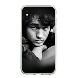 Чехол iPhone XS Max матовый Виктор Цой цвета 3D-салатовый — фото 1