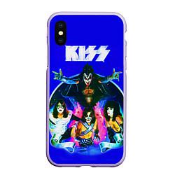 Чехол iPhone XS Max матовый Kiss Show цвета 3D-светло-сиреневый — фото 1