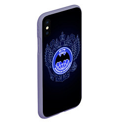 Чехол iPhone XS Max матовый Военная разведка цвета 3D-серый — фото 2