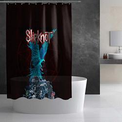 Шторка для душа Орел группа Slipknot цвета 3D-принт — фото 2