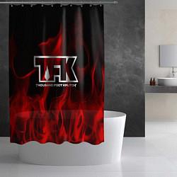 Шторка для душа Thousand Foot Krutch: Red Flame цвета 3D — фото 2