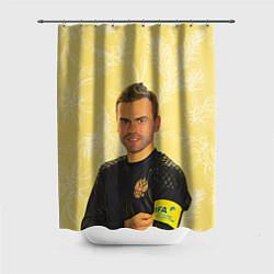 Шторка для душа Акинфеев за Россию цвета 3D — фото 1