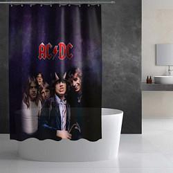 Шторка для душа AC/DC цвета 3D — фото 2