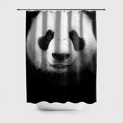 Шторка для душа Взгляд панды цвета 3D — фото 1