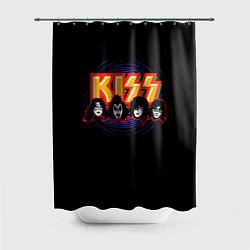 Шторка для душа KISS: Death Faces цвета 3D-принт — фото 1