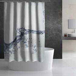 Шторка для душа Белая вода цвета 3D — фото 2