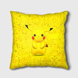 Подушка квадратная Pikachu цвета 3D-принт — фото 1