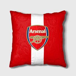 Подушка квадратная Arsenal FC: Red line цвета 3D-принт — фото 1