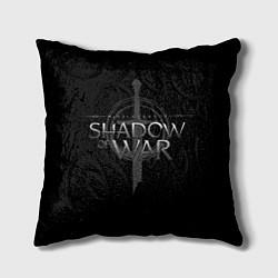 Подушка квадратная Shadow of War цвета 3D-принт — фото 1