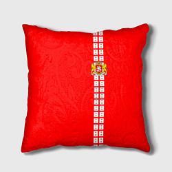 Подушка квадратная Грузия цвета 3D — фото 1