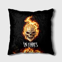 Подушка квадратная In Flames цвета 3D-принт — фото 1