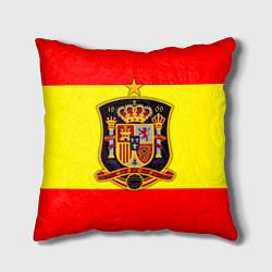 Подушка квадратная Сборная Испании цвета 3D-принт — фото 1