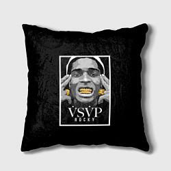 Подушка квадратная ASAP Rocky: Gold Edition цвета 3D-принт — фото 1