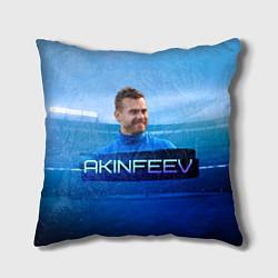 Подушка квадратная Akinfeev цвета 3D-принт — фото 1