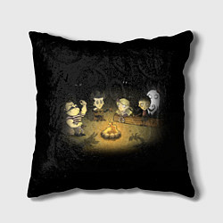 Подушка квадратная Don't Starve campfire цвета 3D-принт — фото 1