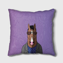 Подушка квадратная Конь БоДжек цвета 3D-принт — фото 1