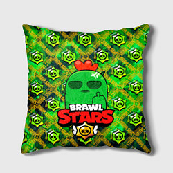 Подушка квадратная Brawl Stars Spike цвета 3D — фото 1