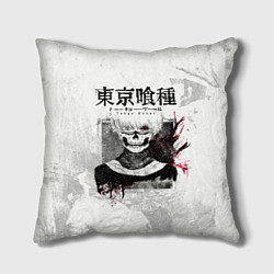 Подушка квадратная Канеки Кен Kaneki Ken цвета 3D-принт — фото 1