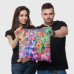 Подушка квадратная My Little Pony цвета 3D-принт — фото 2