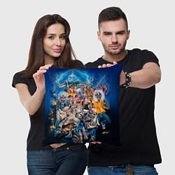 Подушка квадратная Iron Maiden: Skeletons цвета 3D-принт — фото 2