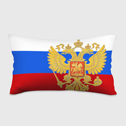 Подушка-антистресс Герб России: триколор цвета 3D — фото 1