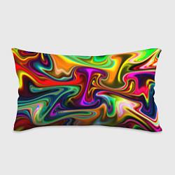 Подушка-антистресс Неоновые разводы цвета 3D — фото 1