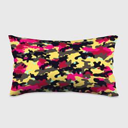 Подушка-антистресс Камуфляж: желтый/черный/розовый цвета 3D — фото 1