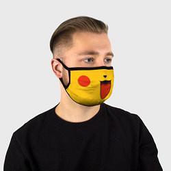 Маска для лица Pokemon Pikachu цвета 3D-принт — фото 1