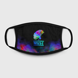 Маска для лица Muse: Neon Flower цвета 3D — фото 2