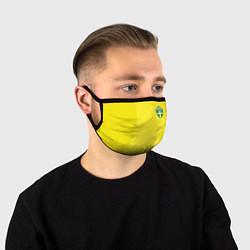 Маска для лица Сборная Швеции: Домашняя ЧМ-2018 цвета 3D-принт — фото 1