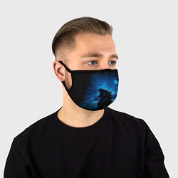 Маска для лица GODZILLA цвета 3D-принт — фото 1