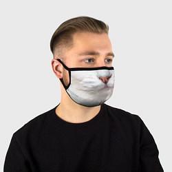 Маска для лица Белый котик цвета 3D — фото 1