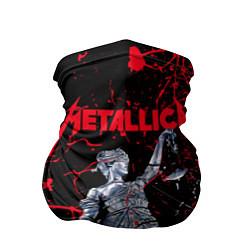 Бандана-труба Metallica цвета 3D-принт — фото 1