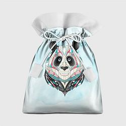 Мешок для подарков Расписная голова панды цвета 3D — фото 1