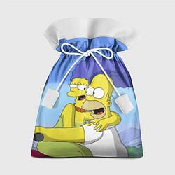 Мешок для подарков Гомер и Мардж цвета 3D — фото 1