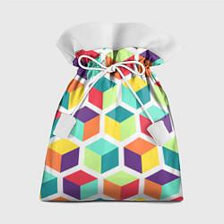 Мешок для подарков 3D кубы цвета 3D — фото 1