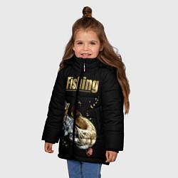 Куртка зимняя для девочки Gold Fishing цвета 3D-черный — фото 2
