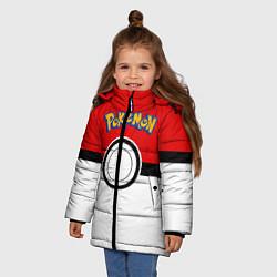 Куртка зимняя для девочки Покеболл 3 цвета 3D-черный — фото 2