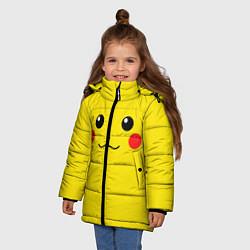 Куртка зимняя для девочки Happy Pikachu цвета 3D-черный — фото 2
