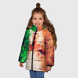 Куртка зимняя для девочки Conor McGregor: Ireland цвета 3D-черный — фото 2