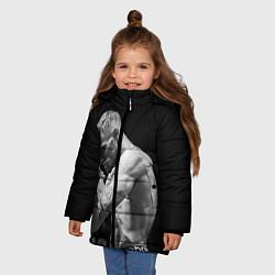 Детская зимняя куртка для девочки с принтом Conor McGregor: Mono, цвет: 3D-черный, артикул: 10102376606065 — фото 2